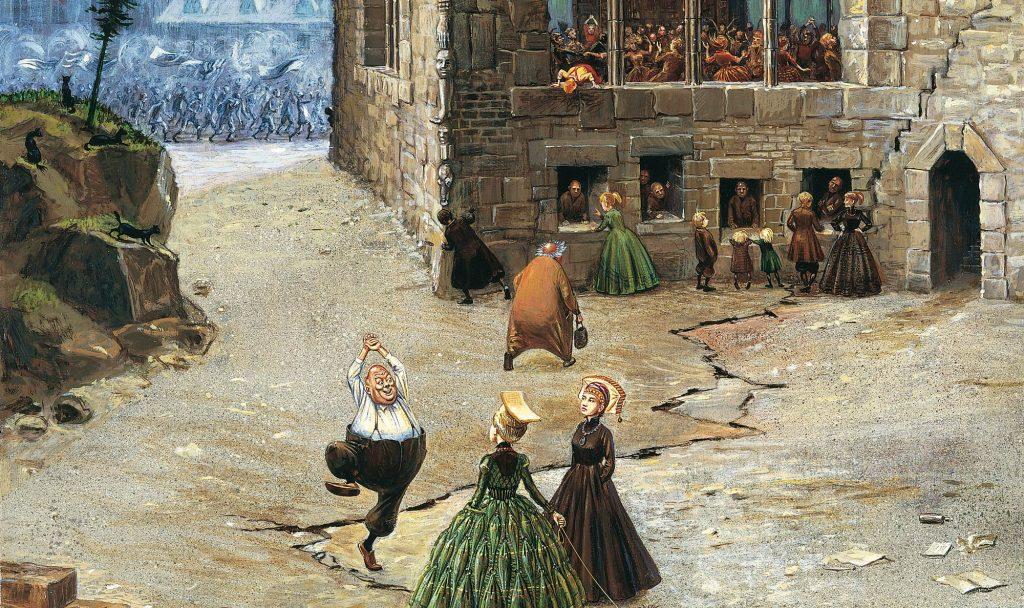 Efter endt renovering af Frello-udstillingen kan man opleve det nyerhvervede maleri Den morsomme mand fra 1980