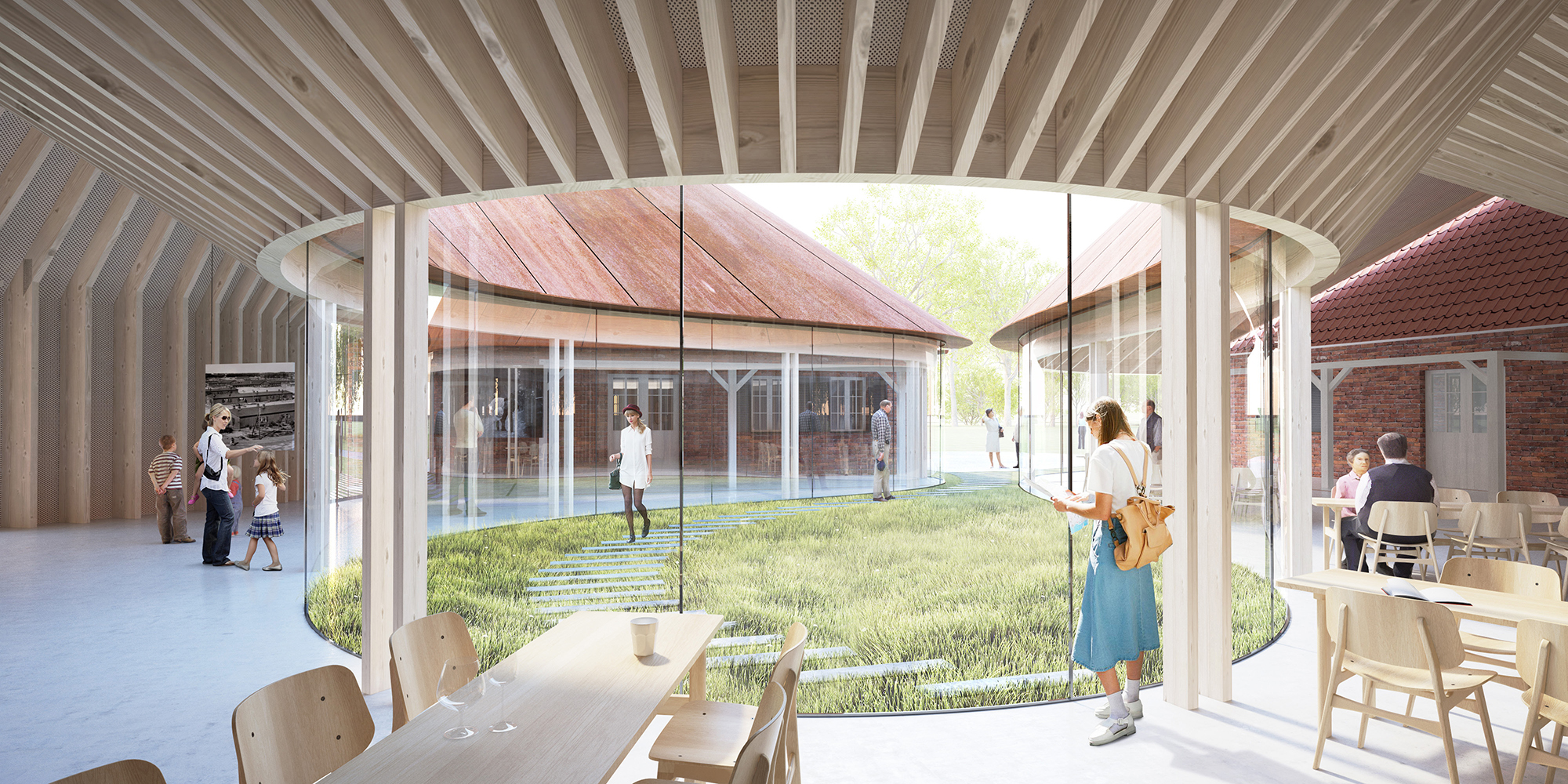 Det nye flygtningemuseum set indefra. BIG rendering